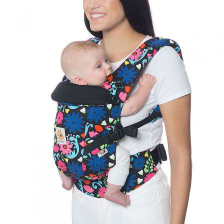 171d1360e23 Ergobaby Adapt French Bull Flores - carrier Scalable Limited Series