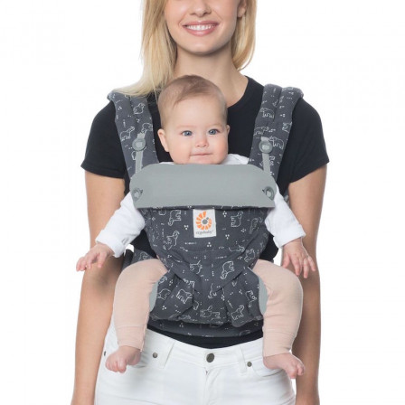 d1a997db209 Ergobaby 360 Gray Elephants baby carrier Physiological 4 Positions