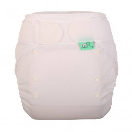 Tots bots EasyFit Star cloth diaper - white