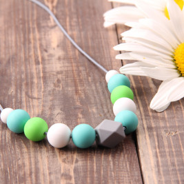 Love And Carry Mint Collier de portage en silicone alimentaire
