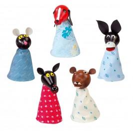 Marionettes pour doigts: les animaux