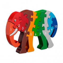 Puzzle Éléphant 1-10 en bois Lanka Kade