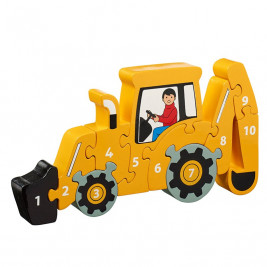 Puzzle Backhoe Yellow 1-10 wooden Lanka Kade