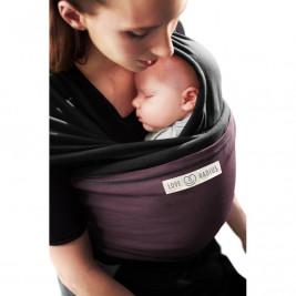 The original JPMBB Baby Wrap Black, pocket Plum