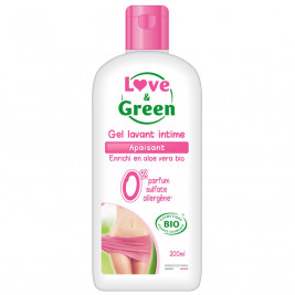 Love and Green Gel Wash Intimate Soothing Bio
