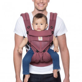 Ergobaby Omni 360 Cool Air Mesh Bordeaux - baby-carrier Expandable 4 Positions
