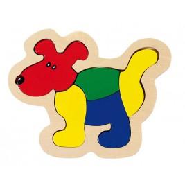 Puzzle chien en bois par Goki