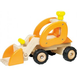 Tracteur chargeur grand modèle en bois par Goki