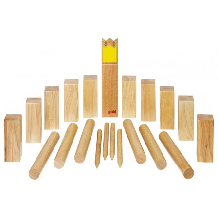 kubb jeu de vikings en bois grand mod le roi jaune naturiou. Black Bedroom Furniture Sets. Home Design Ideas