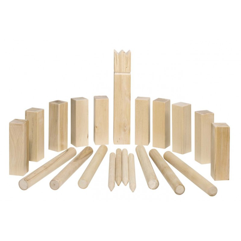 kubb jeu d 39 checs viking en bois mod le m dium naturiou. Black Bedroom Furniture Sets. Home Design Ideas