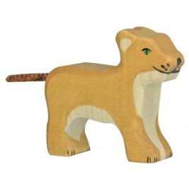Lionçeau en bois Holztiger