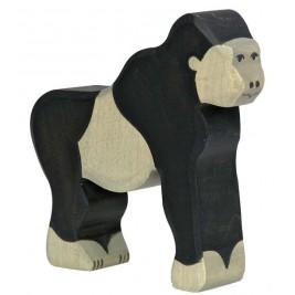 Gorille en bois Holztiger