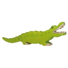 Crocodile en bois Holztiger