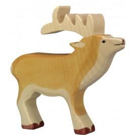 Cerf en bois Holztiger