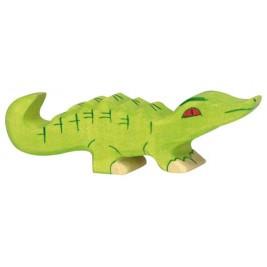 Petit crocodile en bois Holztiger