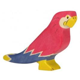 Perroquet en bois Holztiger