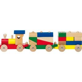 Train rom et pièces en bois  Rom par Goki