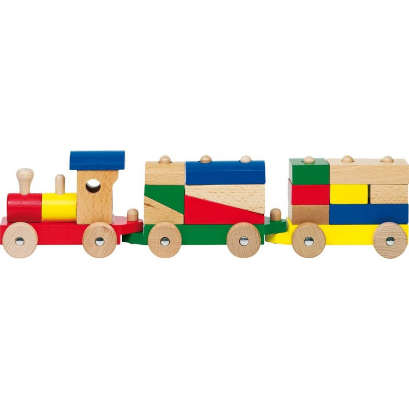 Rom, train with bricks by Goki
