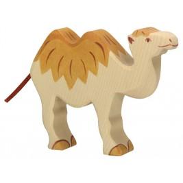 chameau en bois debout Holztiger