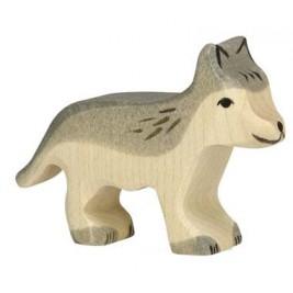 Petit loup en bois Holztiger