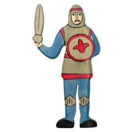Chevalier bleu combattant Holztiger
