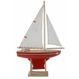 VOILIER Tirot 30cm coque rouge voile blanche Modèle 400