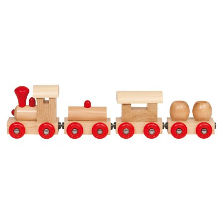 Little train birthday wood and fasteners magnetic