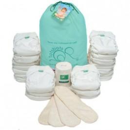 Pack 20 couches lavables blanchesTotsbots Easyfit