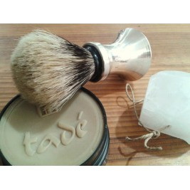 Badger shaving silver