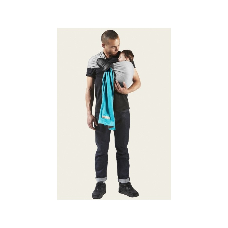 ... turquoise, gris chiné PESN bebe et papa en echarpe porte bebe ... 5d8ffa4cd55