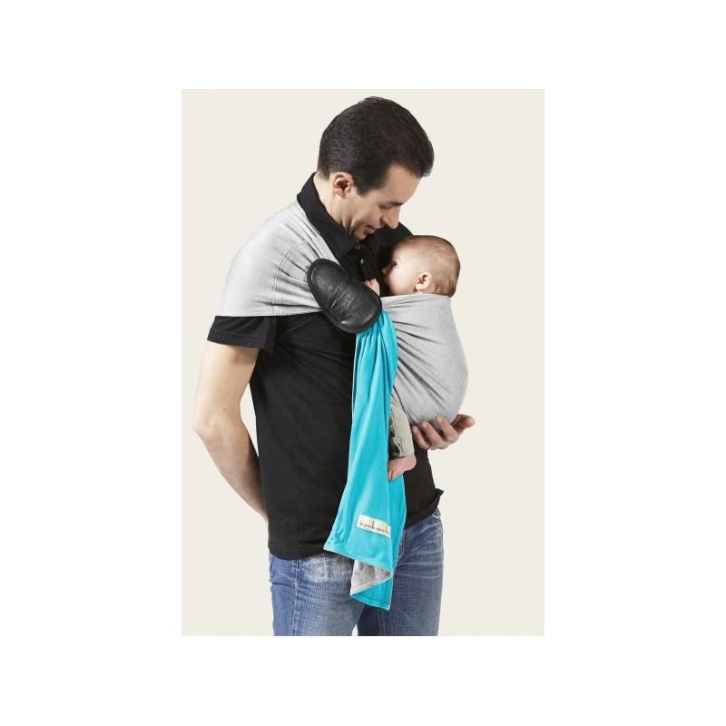 5a1840e97fde ... La Petite Echarpe Sans Noeud- turquoise, gris chiné jpmbb avec les  grands bebes  La PESN- turquoise, gris chiné par JPMBB ...
