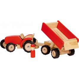 Tractor with trailer red