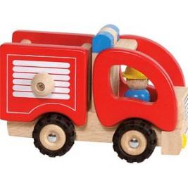 Camion de pompier en bois par Goki