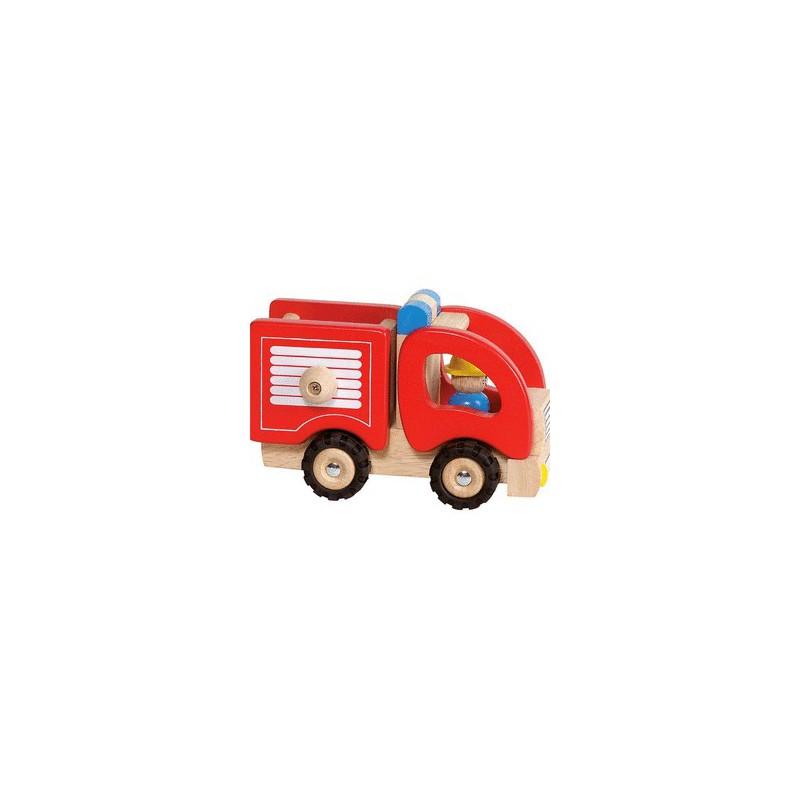Camion de pompier en bois par Goki  Naturiou ~ Jeux De Camion De Bois