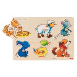 Puzzles avec images cachées - Maman et son petit Goki