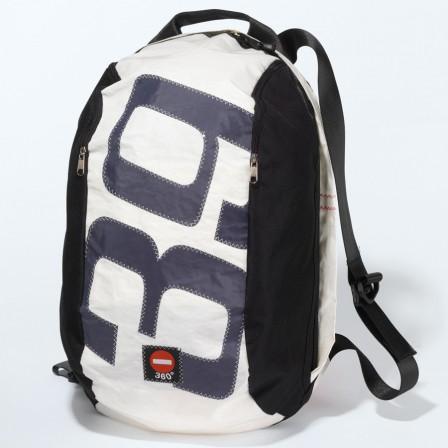 Rucksack noir sac dos 360 en toile de voile recycl e naturiou - Sac voile noirmoutier ...
