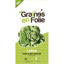 Laitue grosse blonde paresseuse Bio graines en folie
