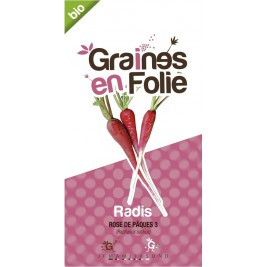Radis rosé de Pâques Bio graines en folie