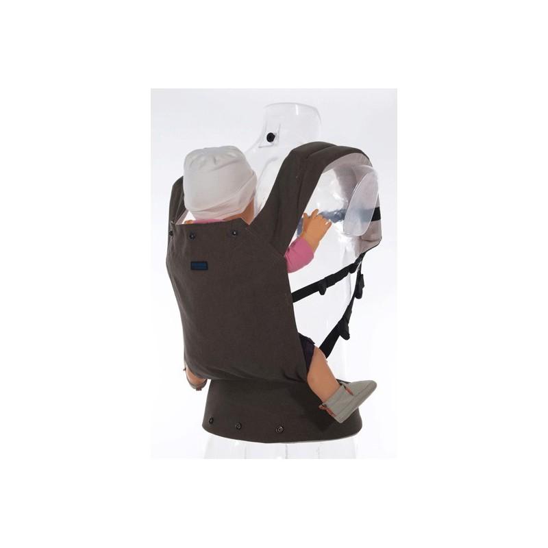 porte b b ergonomique patapum bambin chocolat naturiou. Black Bedroom Furniture Sets. Home Design Ideas