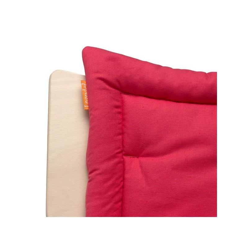 Coussin rouge pour chaise haute volutive leander naturiou - Coussin pour chaise bebe ...