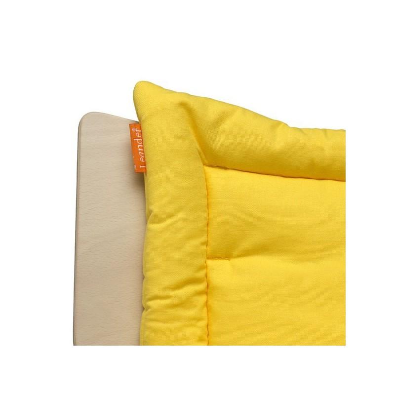 coussin vanille pour chaise haute volutive leander naturiou. Black Bedroom Furniture Sets. Home Design Ideas