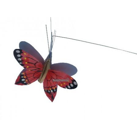 Papillon solaire Héliobil rouge