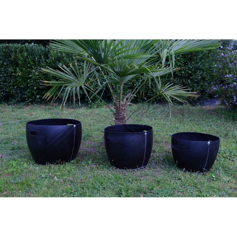 grande jarre moderne 50 en pneu recycl tad naturiou. Black Bedroom Furniture Sets. Home Design Ideas