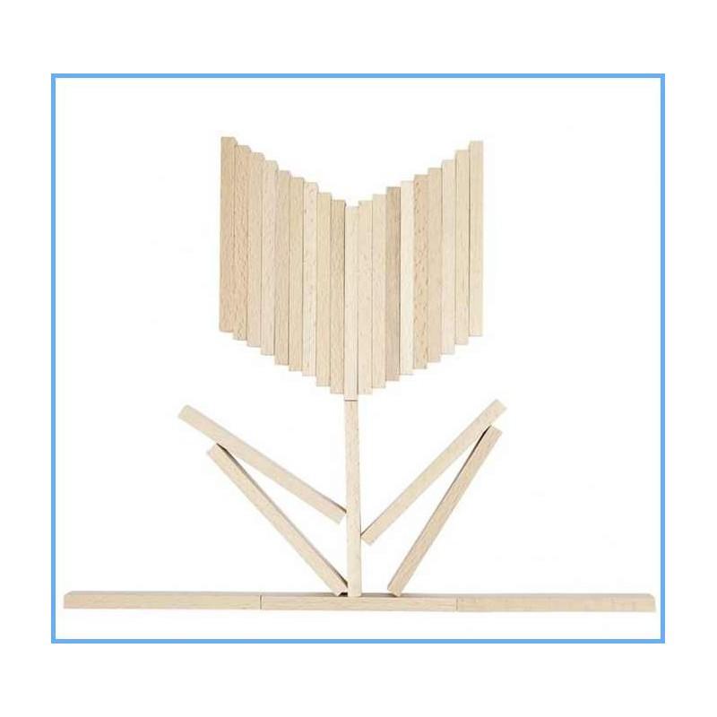Jeu de construction 200 pi ces bois goki nature naturiou for Construction en bois livre