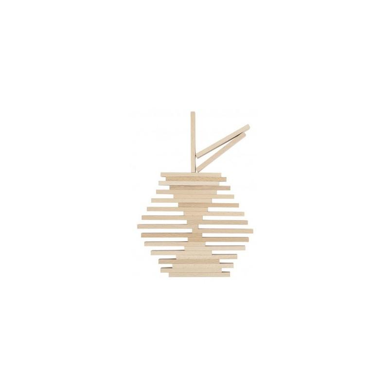 jeu de construction 200 pi ces bois goki nature naturiou. Black Bedroom Furniture Sets. Home Design Ideas