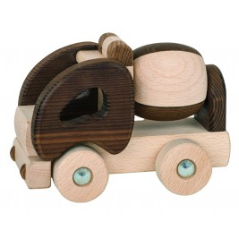 Truck Spinning top wood Goki Nature
