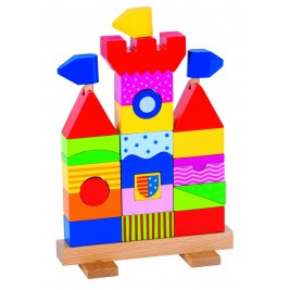 Chateau Goki stacking toy wooden