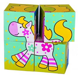 Puzzle cubes, the friends of Susibelle Chlara the horse