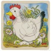 Puzzle layers of wood The hen by Goki