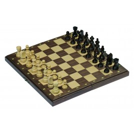 Jeu d'échecs magnétique dans boîte en bois pliable Goki